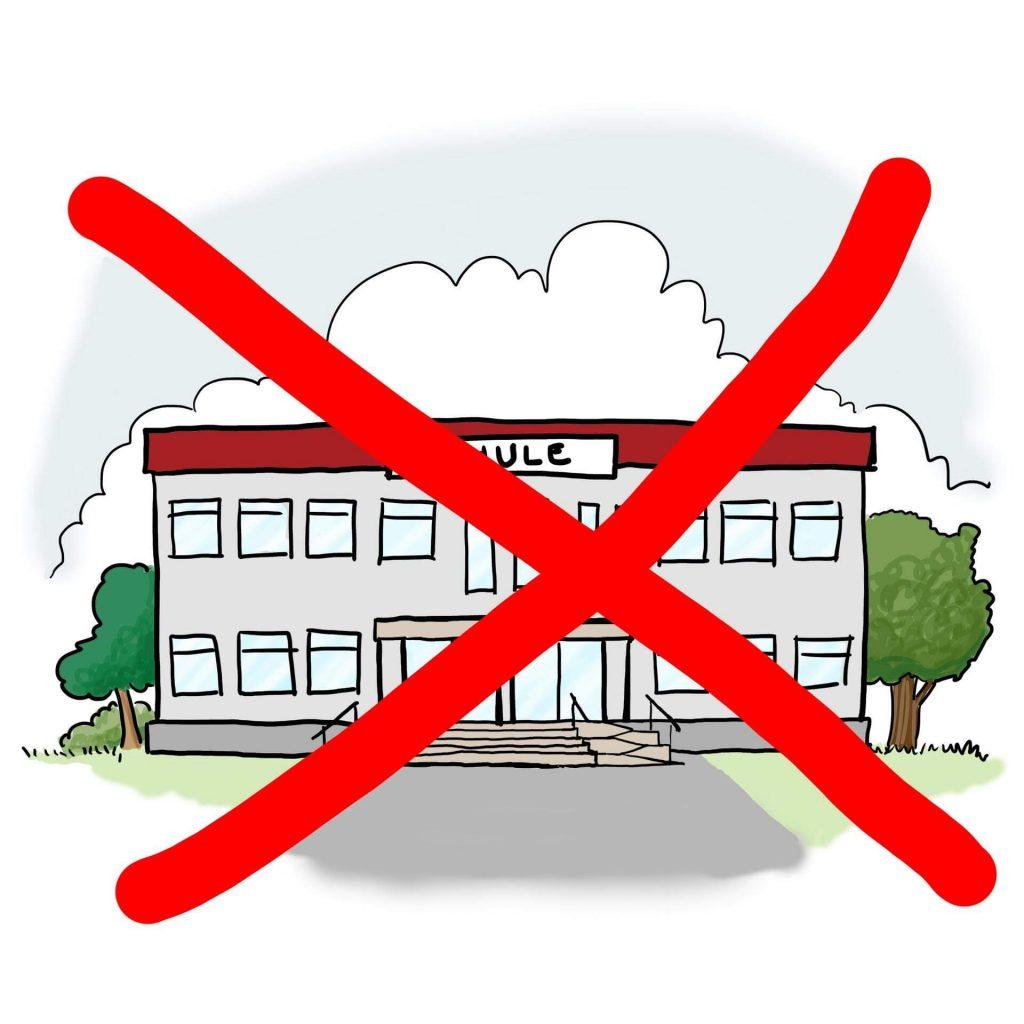 Die Schulen sind geschlossen